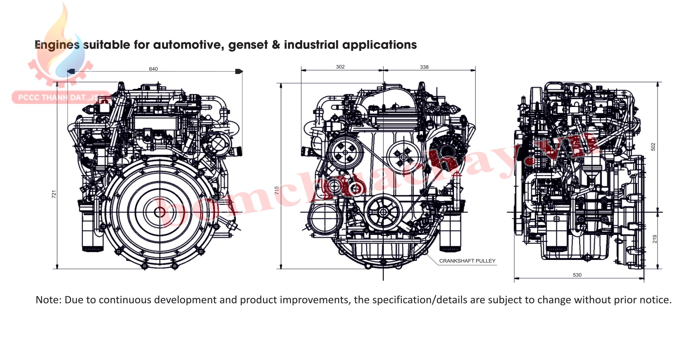 diesel Cooper 4 Cylinder Engine