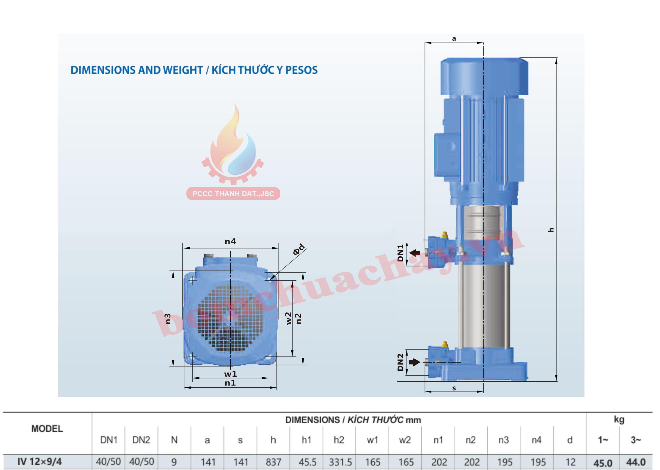 Máy bơm bù áp Inter IVM 12x9 4HP