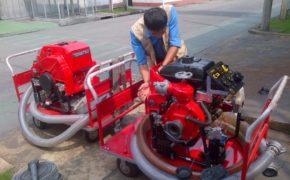 Máy bơm chữa cháy Tohatsu khó hút